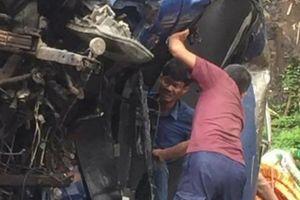 Hòa Bình: Tai nạn liên hoàn ở dốc Cun, 4 người thương vong