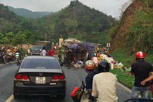Hòa Bình: Tai nạn liên hoàn khiến 1 người chết, 3 người bị thương