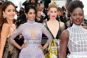 Thảm đỏ Cannes 2018 ngày thứ 3: 'Bạn gái' Black Panther diện váy xuyên thấu, Mallika Sherawat hở ngực lộ liễu