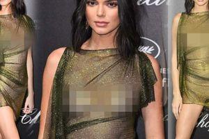 Đệ nhất hot girl Hollywood mặc mỏng như tờ, quên áo lót tại tiệc tối