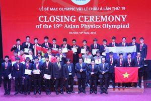 Việt Nam giành 4 Huy chương vàng Olympic Vật lý Châu Á 2018