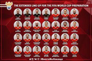 Chủ nhà World Cup 2018 công bố danh sách sơ bộ