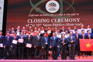 Việt Nam xuất sắc giành 4 Huy chương Vàng tại Olympic Vật lý châu Á lần thứ 19