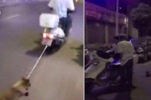 Người đàn ông gây phẫn nộ khi buộc chó vào đuôi xe, kéo lê giữa đường