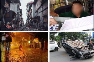 Tin tức Hà Nội 24h: Ôtô 4 chỗ lật ngửa trên xa lộ