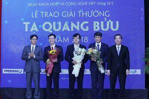 Trao giải thưởng Tạ Quang Bửu 2018 cho ba nhà khoa học