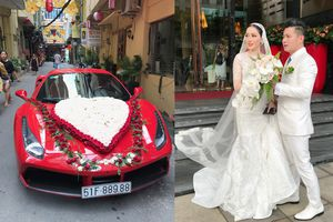 Ca sĩ Lâm Vũ rước dâu bằng siêu xe Ferrari 15 tỉ đồng