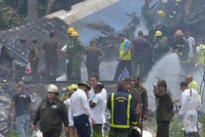 Rơi máy bay ở Cuba chỉ 3 người sống sót trong tổng số 110 nạn nhân