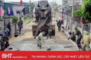 Hơn 3.000 lượt chiến sỹ biên phòng giúp dân Kỳ Hà làm nông thôn mới