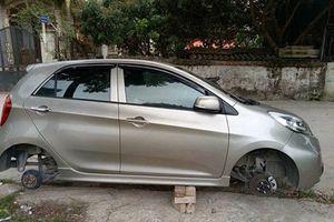 Hà Nội: Khổ chủ 'chết ngất' vì trộm vặt mất...hai bánh ô tô