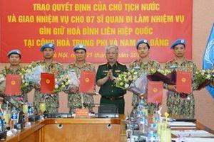 Việt Nam cử thêm 7 sĩ quan làm nhiệm vụ gìn giữ hòa bình LHQ