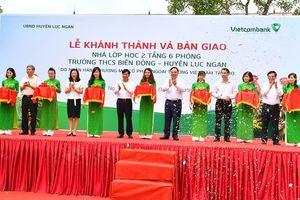 Vietcombank tài trợ 3 tỷ đồng xây trường học tại Bắc Giang
