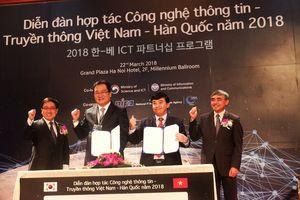 Hàng loạt thỏa thuận hợp tác ICT được ký kết giữa Việt Nam và Hàn Quốc