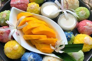 Dẻo dai thơm ngọt - xôi xoài ngũ sắc cốt dừa ngon mê ly