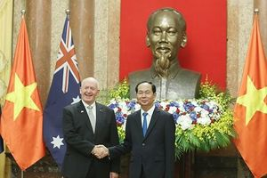 Chủ tịch nước Trần Đại Quang đón Toàn quyền Úc