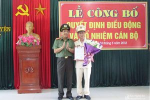 Bộ Công an bổ nhiệm Trưởng Công an huyện Tân Kỳ