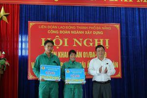 CĐ ngành Xây dựng TP.Đà Nẵng: Trao hỗ trợ nhà Mái ấm Công đoàn