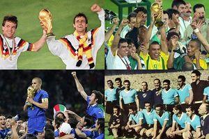 Điểm danh những nhà vô địch của 20 kỳ World Cup