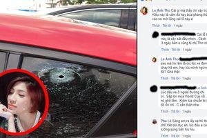 Ca sĩ Pha Lê bị kẻ xấu đục thủng kính xe hơi mới mua