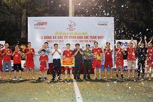 Đội tuyển bóng đá Báo CAND giành ngôi vô địch Press Cup 2018