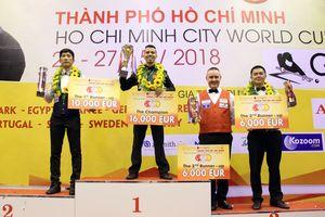 Trần Quyết Chiến vô địch billiards 3 băng thế giới