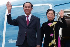 Chủ tịch nước Trần Đại Quang và phu nhân bắt đầu thăm cấp Nhà nước tới Nhật Bản