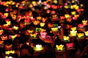 Hàng ngàn người dân TP HCM thả hoa đăng mừng Lễ Phật đản