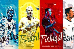 Poster tuyệt đẹp 32 đội bóng dự World Cup 2018