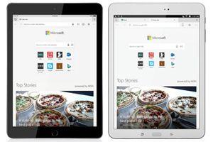 Microsoft Edge đến với iPad và máy tính bảng Android