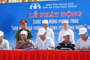 Quảng Ngãi: Phát động phong trào Văn hóa giao thông với bình yên sông nước