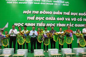 Hơn 400 học sinh tiểu học trên địa bàn tỉnh Bắc Giang tham gia hội thi đồng diễn thể dục