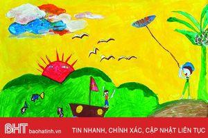 Cuộc sống đầy sắc màu qua tranh trẻ thơ Hà Tĩnh