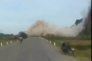Quảng Bình: Kinh hoàng nổ mìn phá đá như bom nổ thời chiến