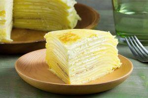 Bánh crepe sầu riêng dễ làm, thơm ngon khó cưỡng