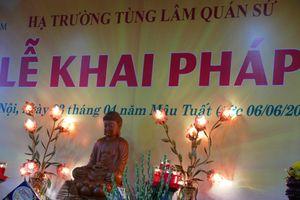 Ca sĩ Sao Mai Hiền Anh hát 'Niệm bình an' tại chùa Quán Sứ nhân Lễ Khai Pháp 2018