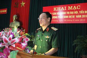 Khai mạc Hội thi 'Cán bộ chính trị đại đội, tiểu đoàn lực lượng Pháo binh dự bị' năm 2018