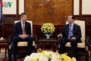 Chủ tịch nước Trần Đại Quang tiếp Đại sứ các nước đến chào từ biệt