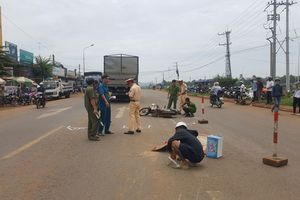 Va chạm xe tải, người đàn ông điều khiển xe máy tử vong tại chỗ