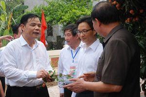 Phó Thủ tướng về tận vườn cùng giúp nông dân bán vải