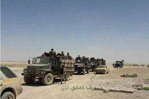 Quân tình nguyện Syria tham chiến trên sa mạc Suwayda, đông Syria