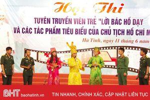 Bộ CHQS Hà Tĩnh thi tuyên truyền viên trẻ về 'Lời Bác Hồ dạy'