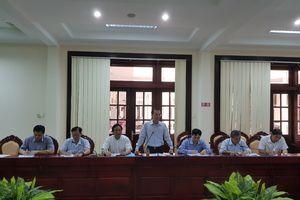 Phó Tổng Thanh tra Đặng Công Huẩn làm việc với tỉnh Sóc Trăng