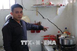 Nổ mìn làm thủy điện Chư Krông Prông, hàng chục nhà dân bị hư hỏng