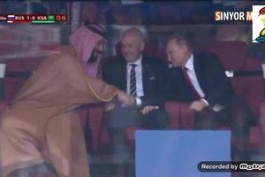 Cái bắt tay chia buồn với Thái tử Ả Rập ở World Cup của ông Putin gây sốt