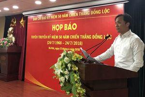 Hà Tĩnh tổ chức nhiều hoạt động ý nghĩa kỷ niệm 50 năm Chiến thắng Đồng Lộc