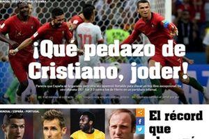 Báo chí thế giới ngả mũ thán phục C.Ronaldo