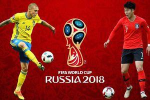 Link xem trực tiếp Thụy Điển vs Hàn Quốc, bảng F World Cup 2018