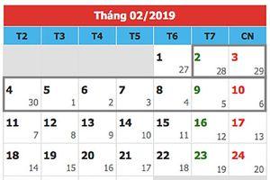 Chính thức trình Chính phủ đề xuất nghỉ tết Âm lịch 2019 dài 9 ngày