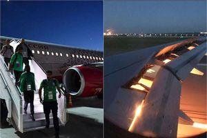 Vận đen đeo bám, máy bay chở đội tuyển Ả Rập Saudi cháy động cơ
