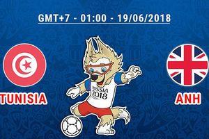 Link xem trực tiếp Tunisia vs Anh, bảng G World Cup 2018